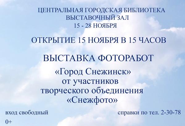 афиша Снежинск- малый размер